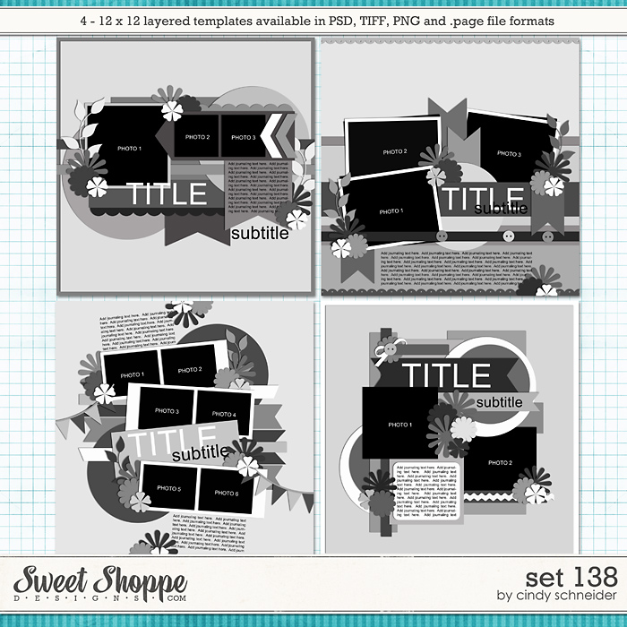 Cindy's Layered Templates - Set 138 by Cindy Schneider