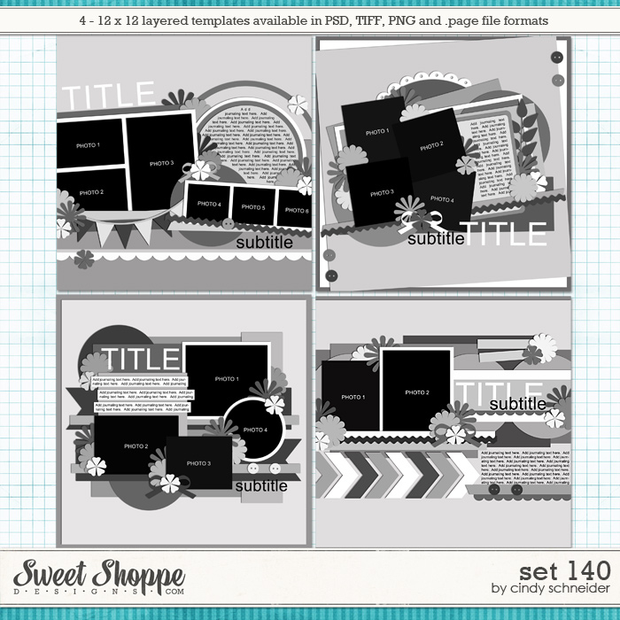 Cindy's Layered Templates - Set 140 by Cindy Schneider