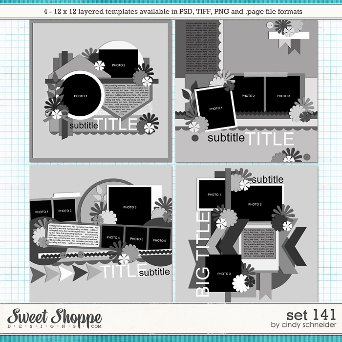 Cindy's Layered Templates - Set 141 by Cindy Schneider