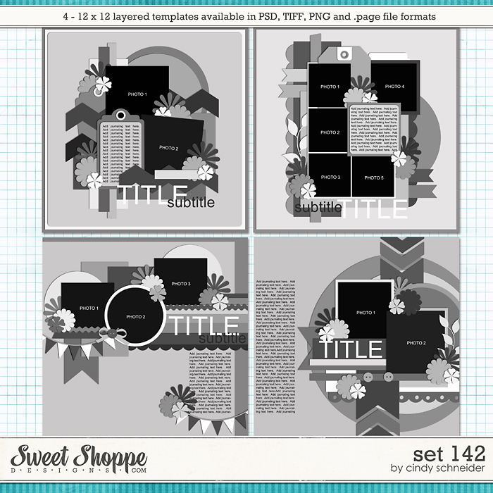 Cindy's Layered Templates - Set 142 by Cindy Schneider