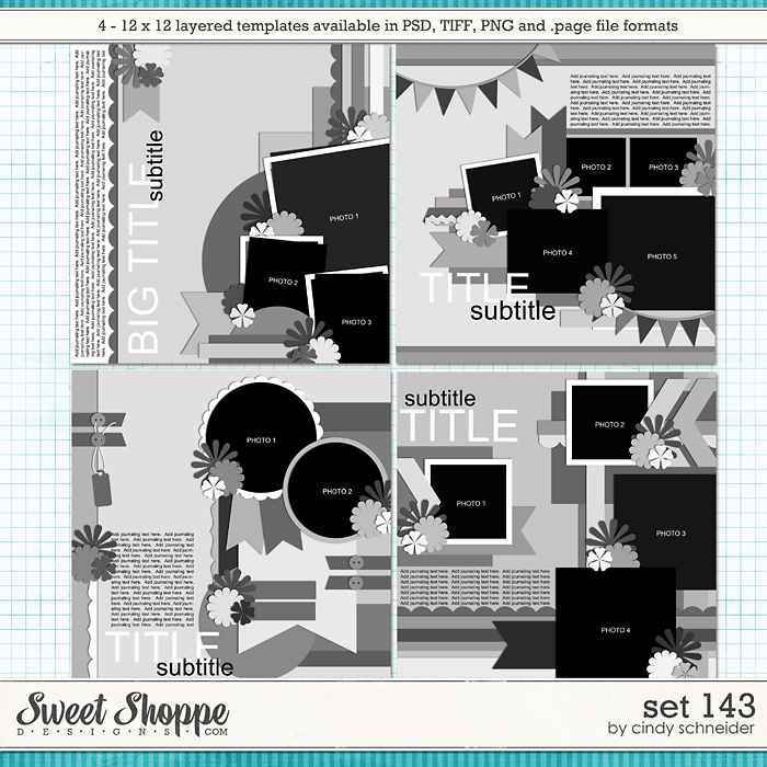 Cindy's Layered Templates - Set 143 by Cindy Schneider