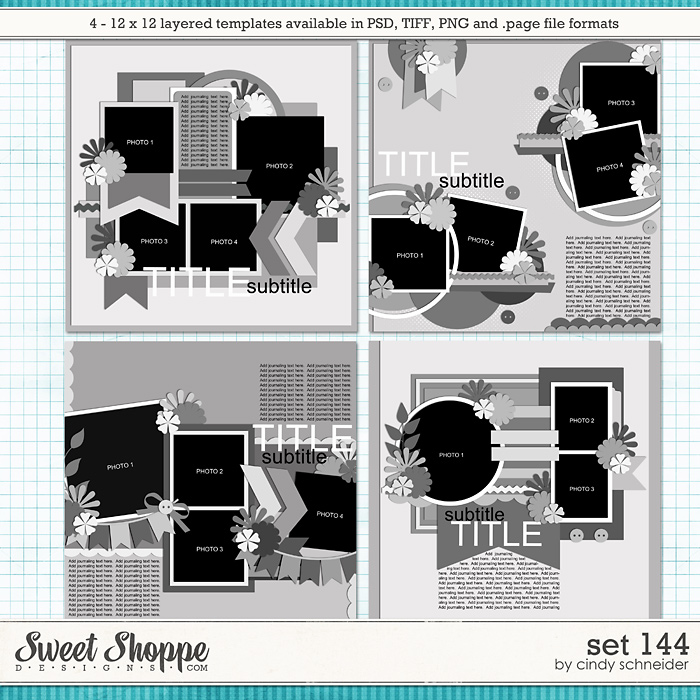 Cindy's Layered Templates - Set 144 by Cindy Schneider