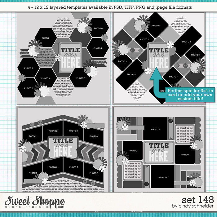 Cindy's Layered Templates - Set 148 by Cindy Schneider