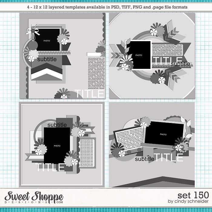Cindy's Layered Templates - Set 150 by Cindy Schneider