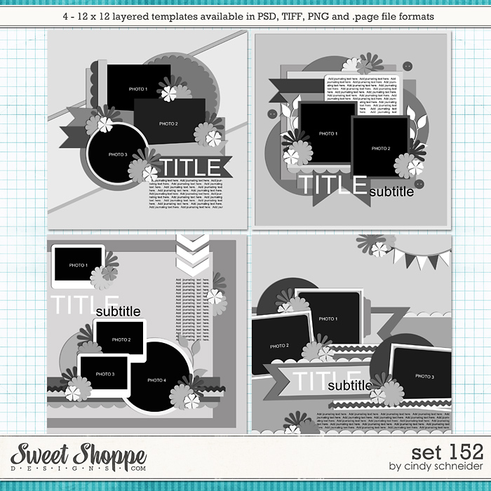 Cindy's Layered Templates - Set 152 by Cindy Schneider