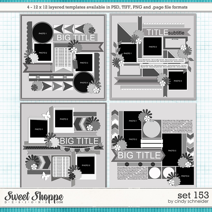 Cindy's Layered Templates: Set 153 by Cindy Schneider