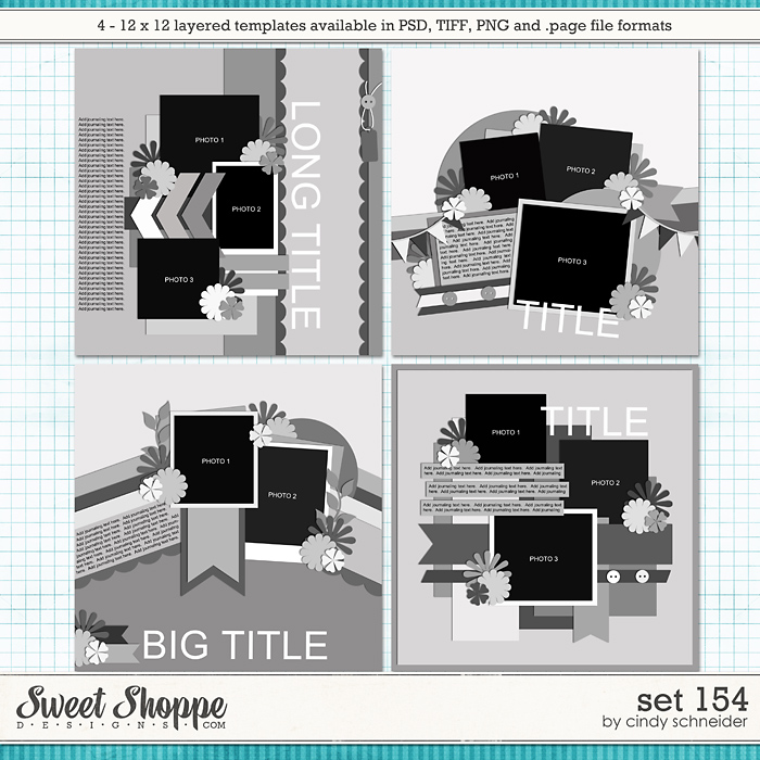 Cindy's Layered Templates - Set 154 by Cindy Schneider