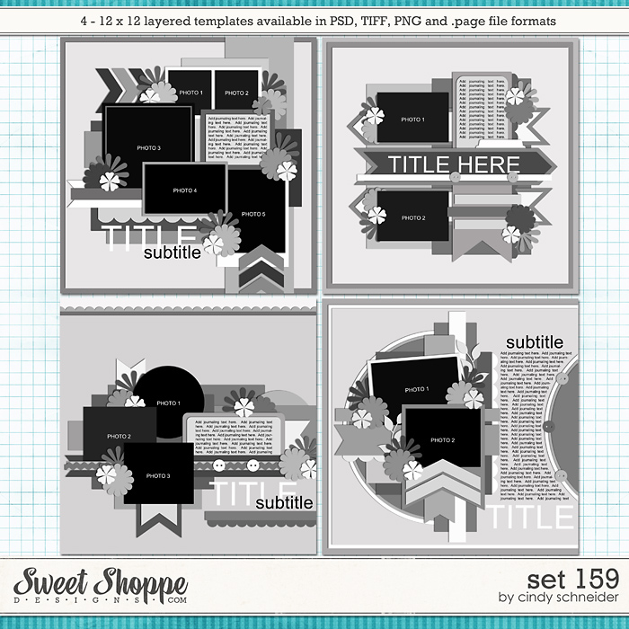 Cindy's Layered Templates - Set 159 by Cindy Schneider