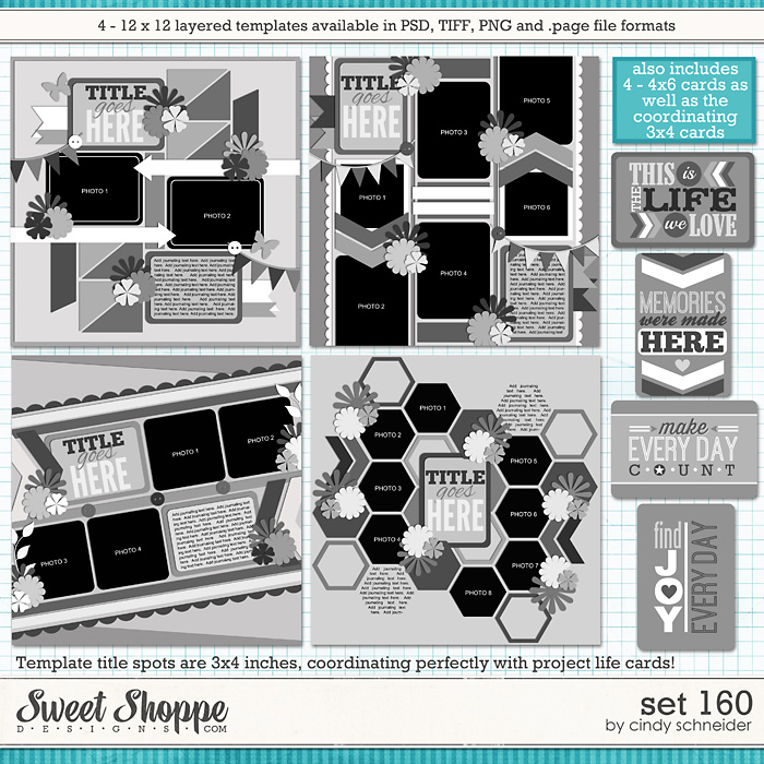 Cindy's Layered Templates - Set 160 by Cindy Schneider