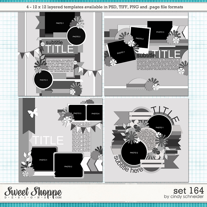 Cindy's Layered Templates - Set 164 by Cindy Schneider