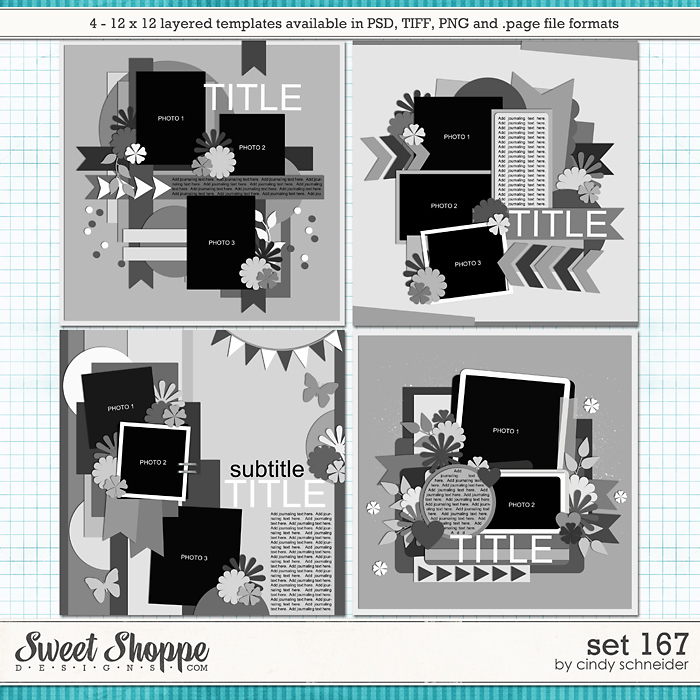 Cindy's Layered Templates - Set 167 by Cindy Schneider
