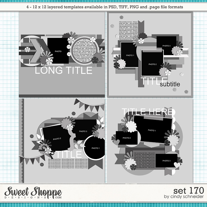 Cindy's Layered Templates - Set 170 by Cindy Schneider