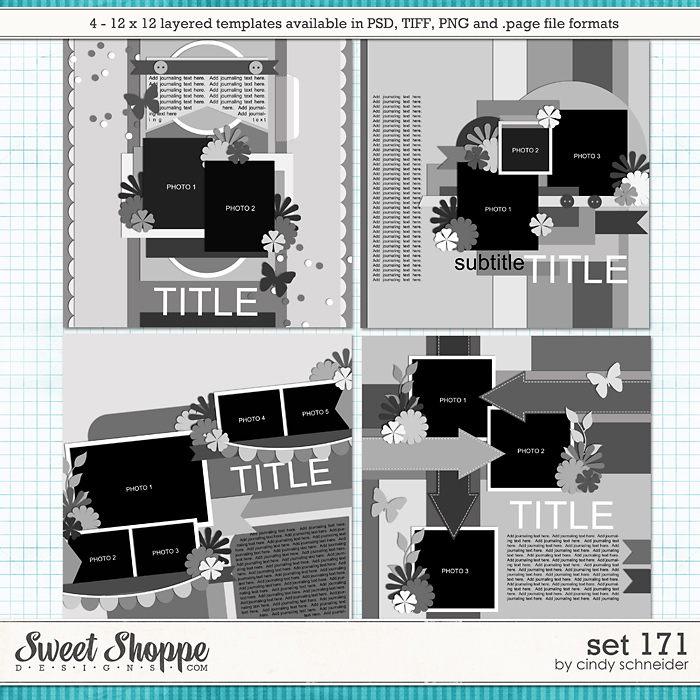 Cindy's Layered Templates - Set 171 by Cindy Schneider