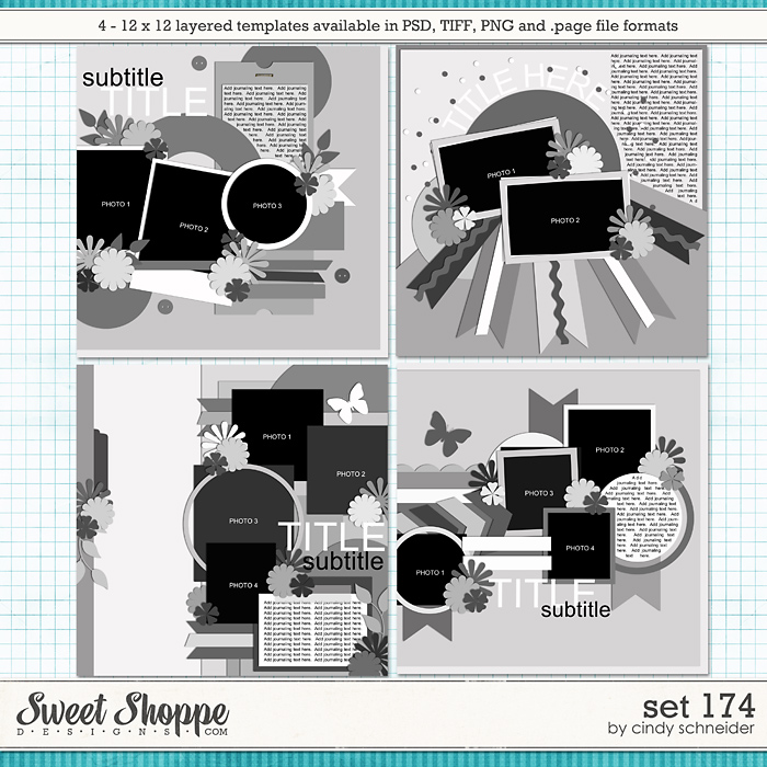 Cindy's Layered Templates - Set 174 by Cindy Schneider