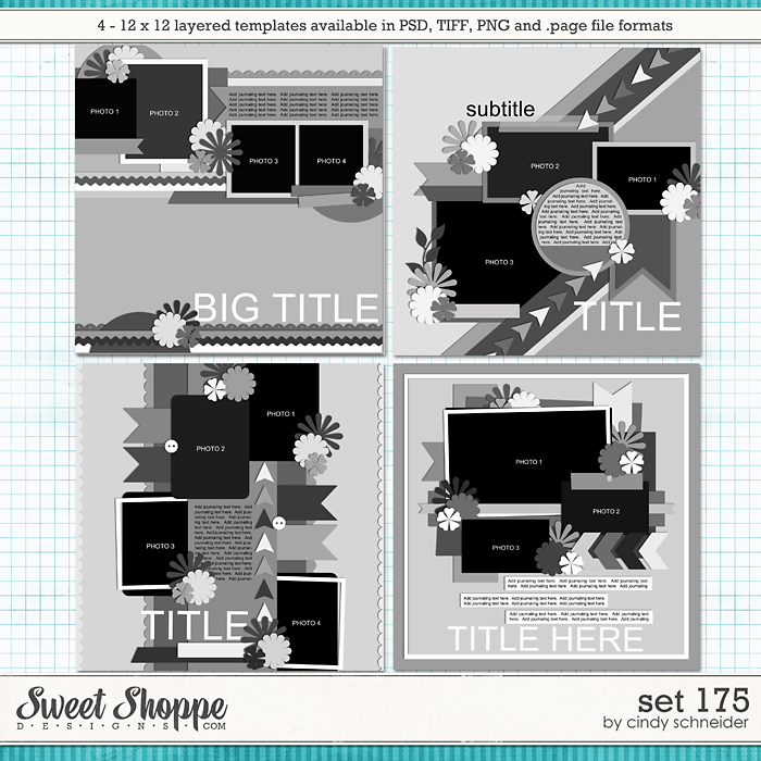 Cindy's Layered Templates - Set 175 by Cindy Schneider