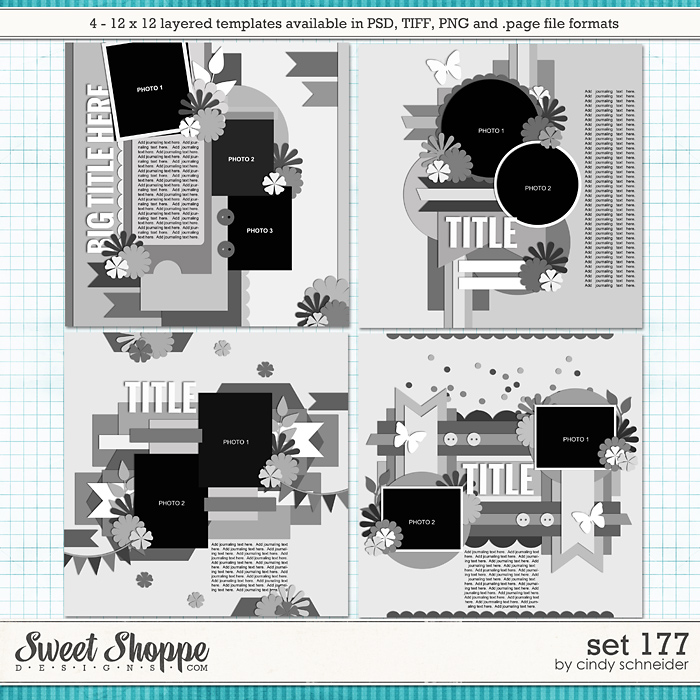 Cindy's Layered Templates - Set 177 by Cindy Schneider