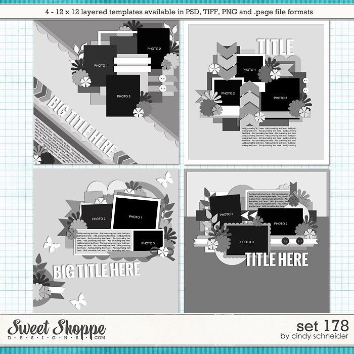 Cindy's Layered Templates - Set 178 by Cindy Schneider