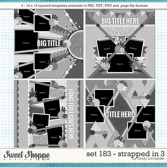 Cindy's Layered Templates - Set 183: Strapped In 3 by Cindy Schneider