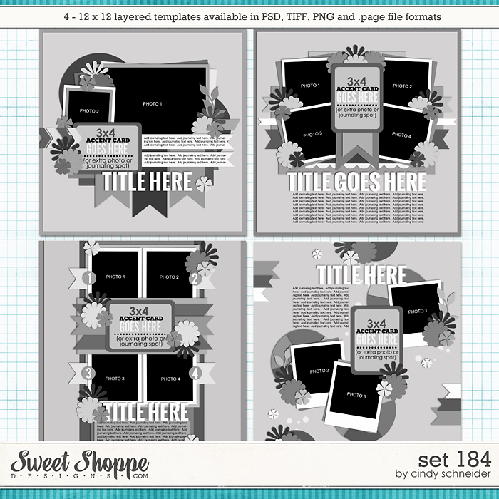 Cindy's Layered Templates - Set 184 by Cindy Schneider