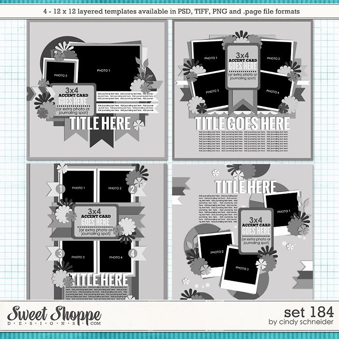 Cindy's Layered Templates - Set 184 by Cindy Schneider