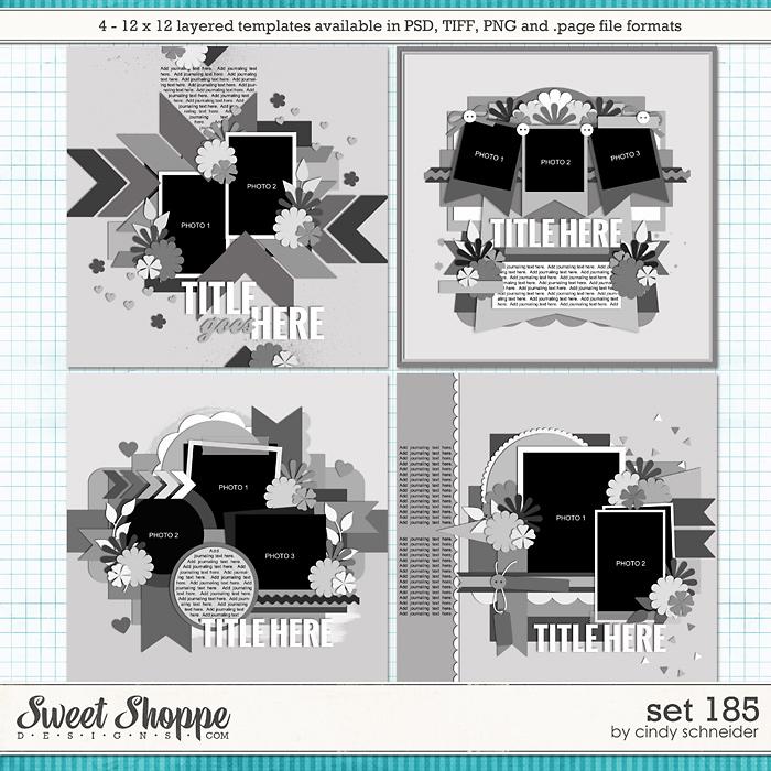 Cindy's Layered Templates - Set 185 by Cindy Schneider