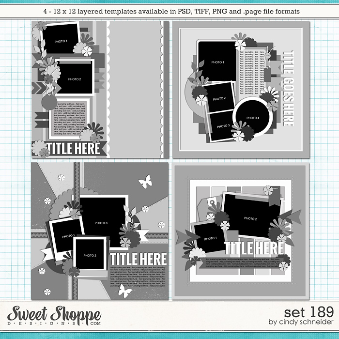 Cindy's Layered Templates - Set 189 by Cindy Schneider