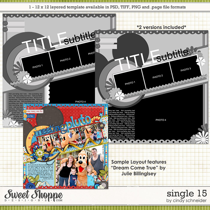 Cindy's Layered Templates - Single #15  by Cindy Schneider