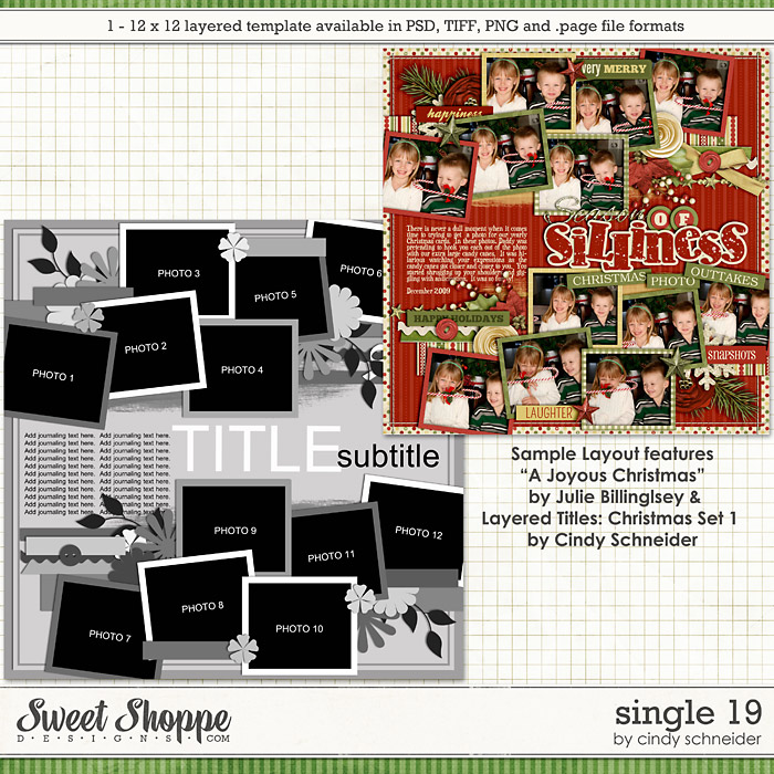 Cindy's Layered Templates - Single 19 by Cindy Schneider