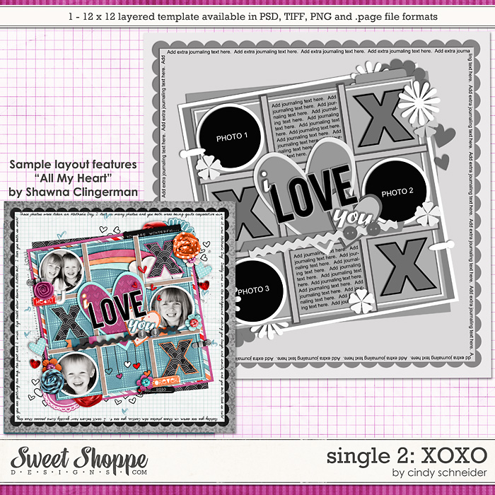 Cindy's Layered Templates - Single #2 XOXO by Cindy Schneider