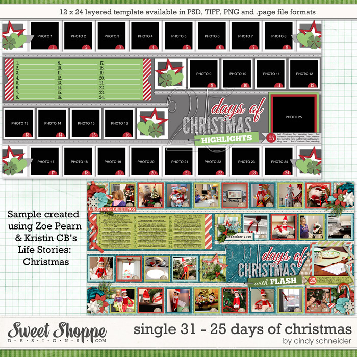 Cindy's Layered Templates - Single 31: 25 Days of Christmas by Cindy Schneider