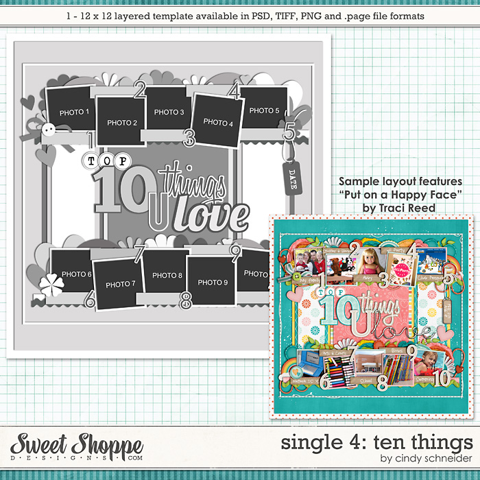 Cindy's Layered Templates - Single #4 Top Ten by Cindy Schneider