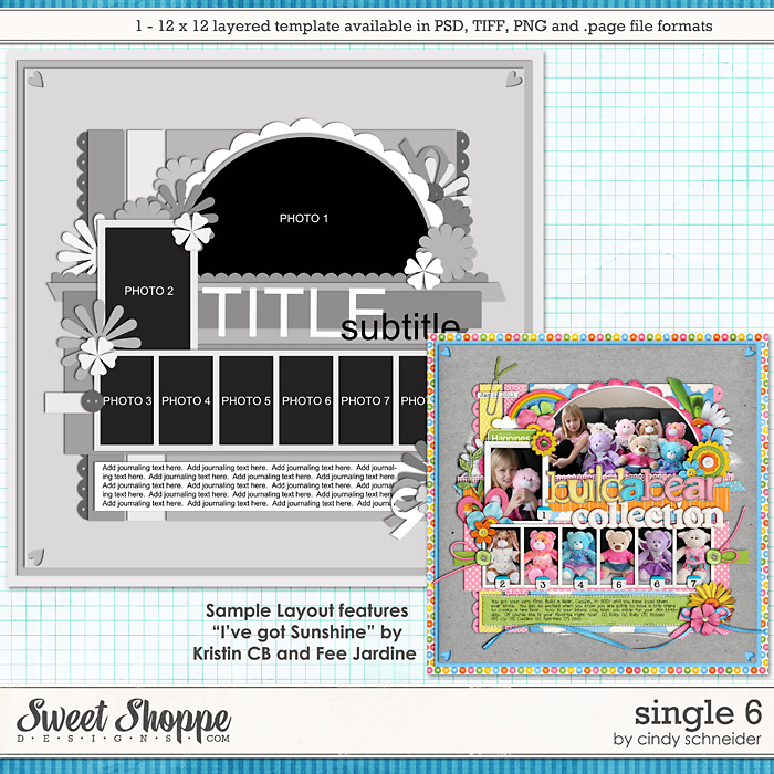 Cindy's Layered Templates - Single #6 by Cindy Schneider