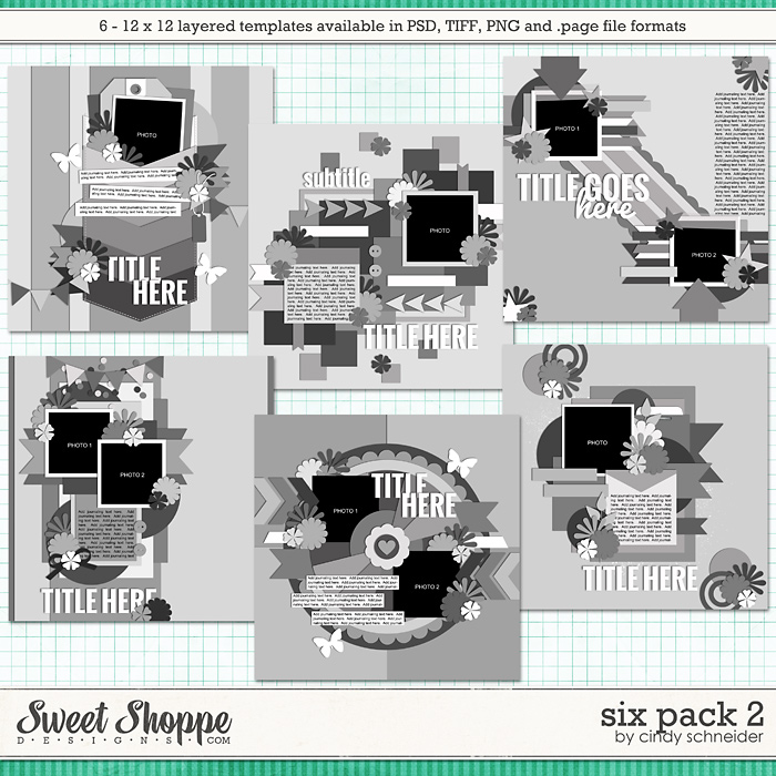 Cindy's Layered Templates - Six Pack 2 by Cindy Schneider