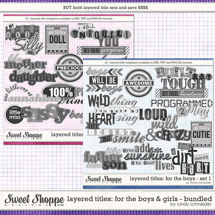 Cindy's Layered Titles: For the Boys & Girls Bundled Set by Cindy Schneider