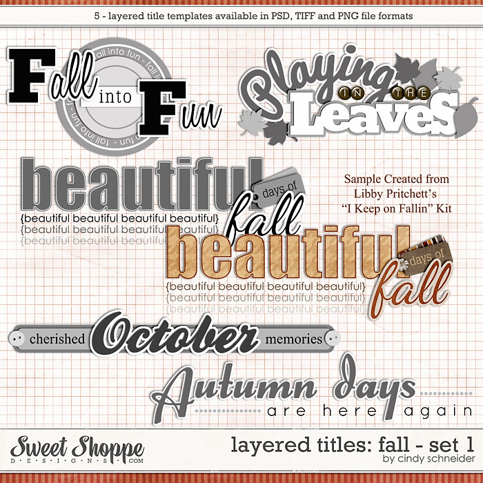 Cindy's Layered Titles - Fall: Set #1 by Cindy Schneider