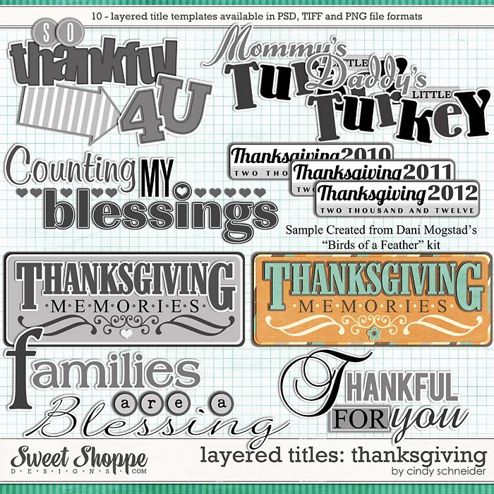 Cindy's Layered Titles - Thanksgiving by Cindy Schneider