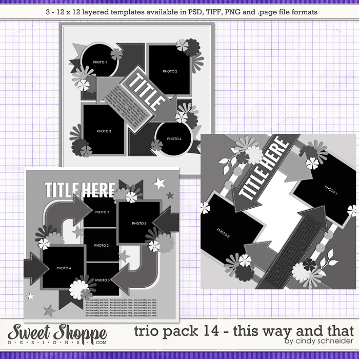 Cindy's Layered Template - Trio Pack 14: This Way and That