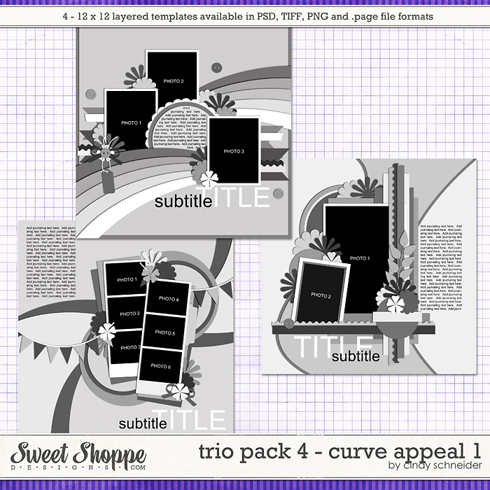 Cindy's Layered Templates: Trio Pack 4 - Curve Appeal 1