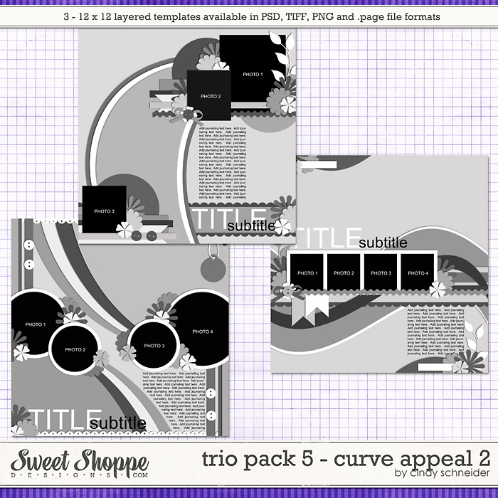 Cindy's Layered Templates: Trio Pack 5 - Curve Appeal 2 by Cindy Schneider