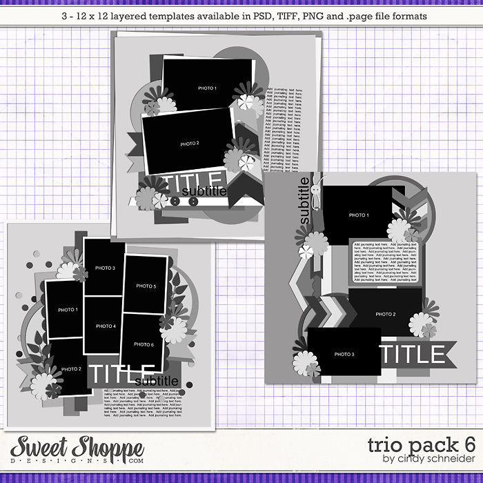 Cindy's Layered Templates: Trio Pack 6 by Cindy Schneider