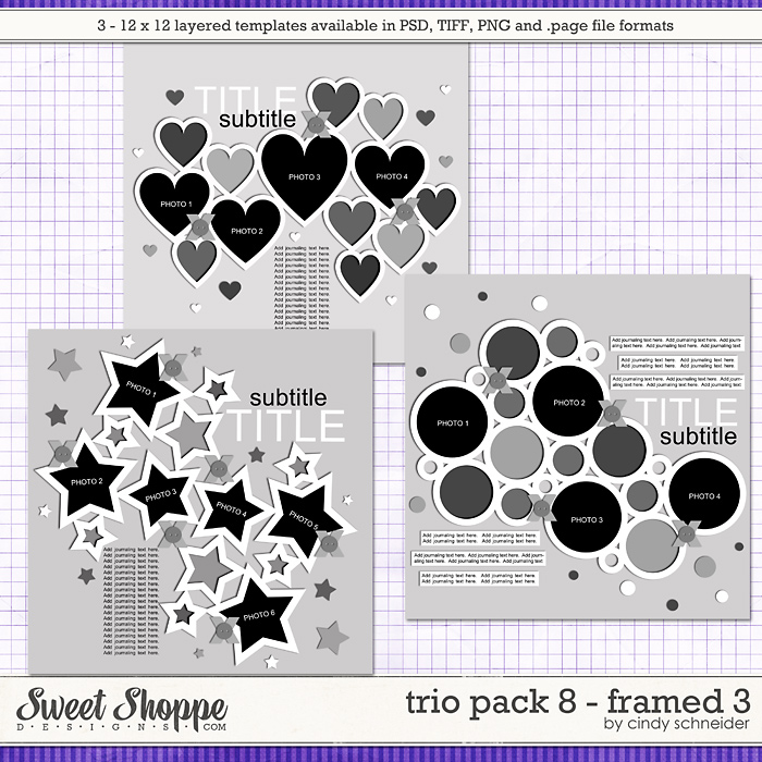 Cindy's Layered Templates - Trio Pack 8: Framed 3 by Cindy Schneider