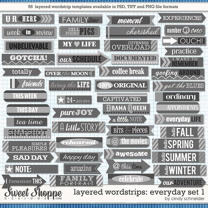 Cindy's Layered Wordstrips - Everyday Set 1 by Cindy Schneider
