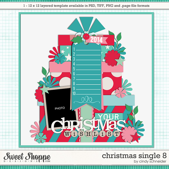 Cindy's Layered Templates - Christmas Single 8 by Cindy Schneider
