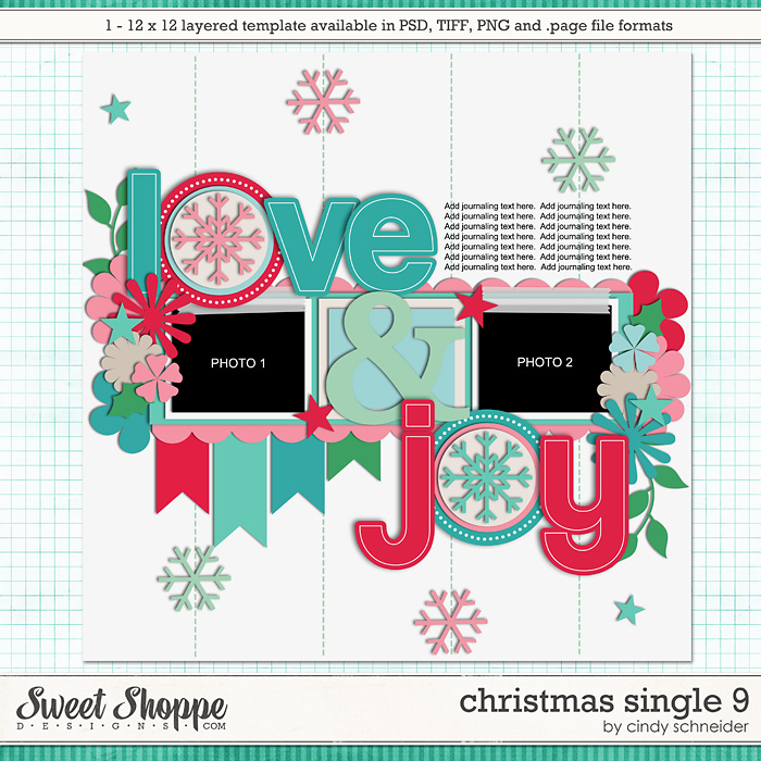 Cindy's Layered Templates - Christmas Single 9 by Cindy Schneider