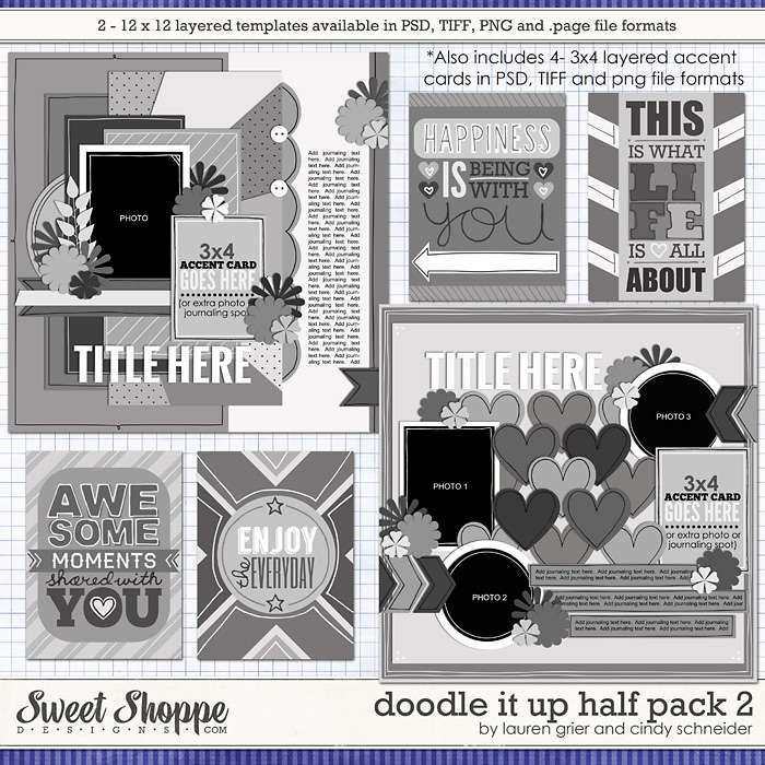 Doodle It Up Half Pack 2 by Lauren Grier & Cindy Schneider