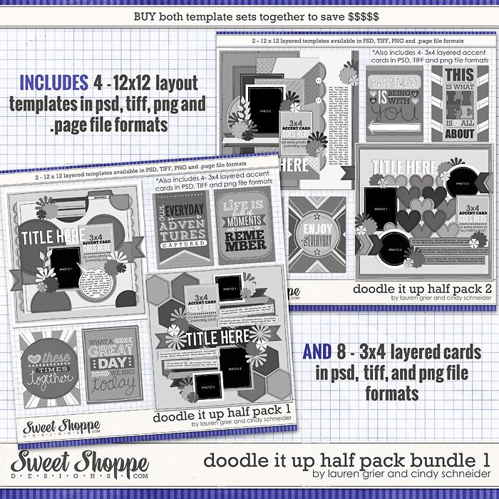 Doodle It Up Half Pack Bundle 1 by Lauren Grier & Cindy Schneider