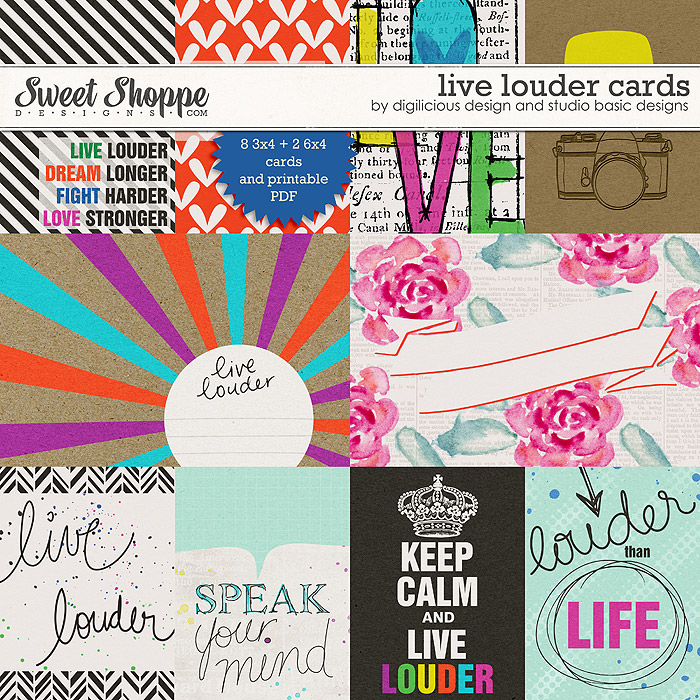 Live Louder Cards by Digilicious Design & Studio Basic Designs