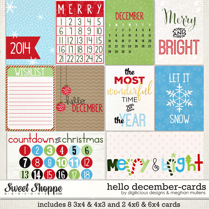 Hello December Cards by Digilicious Design & Meghan Mullens