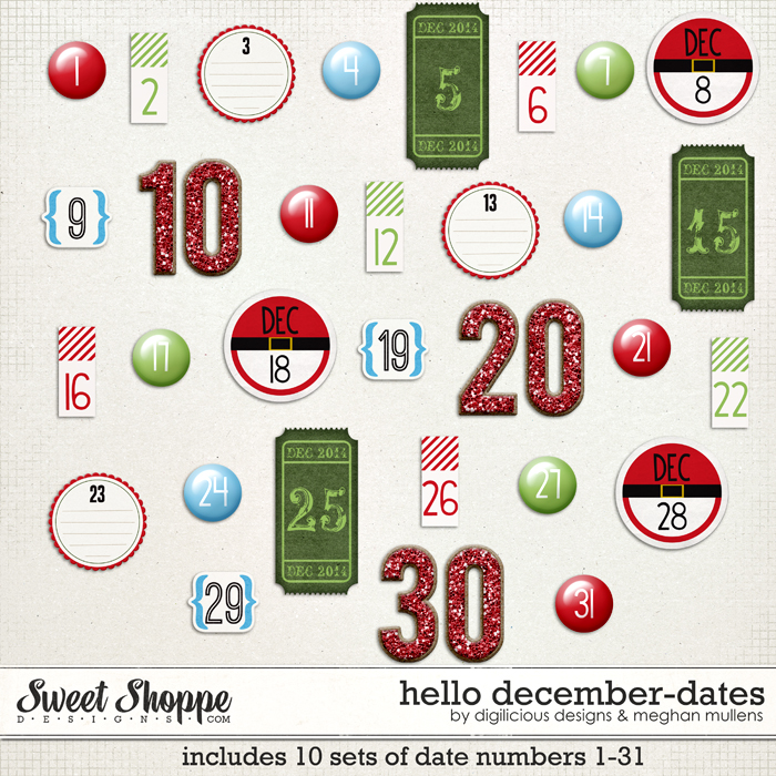 Hello December Dates by Digilicious Design & Meghan Mullens