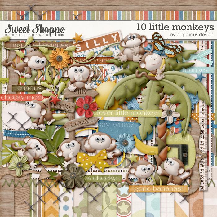 10 Little Monkeys by Digilicious Design